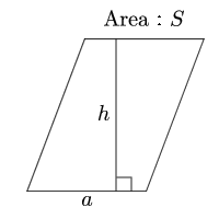 Area of parallelogram(Base and height)