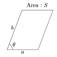 Area of parallelogram(The two sides and that angle)