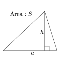 Area of a triangle(Base and height)
