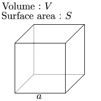One side from volume of cube